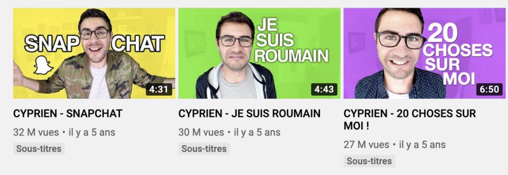 miniature youtube cyprien